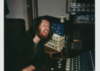 Me looning about in the Captain Audio studio, during the recording of the first Gardening Club L P, 1982. Don had just got a piece of new gear, I was very impressed!
