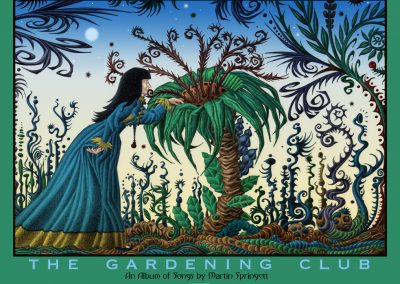 An image from the Gardening Club graphic novel that I used as a poster for The Gardening Club
