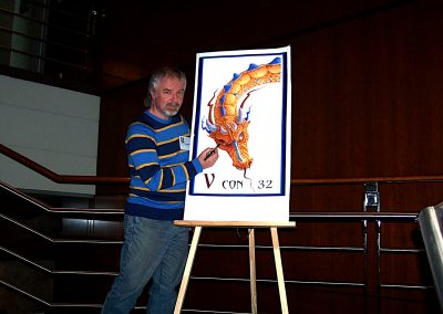 I was the Artist Guest Of Honour at the Vancouver S F and Fantasy convention, V Con.