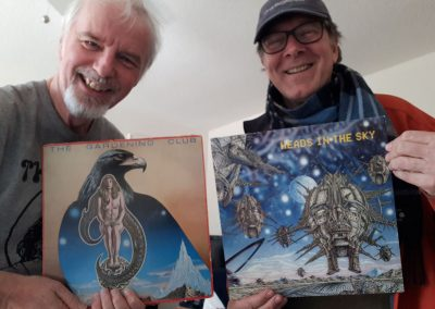 Myself and Russ Walker, holding up our respective album covers!