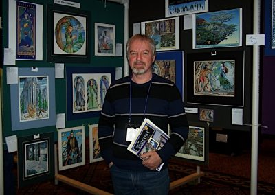 I attended many literary conventions in my career as an illustrator. Calgary 2008.