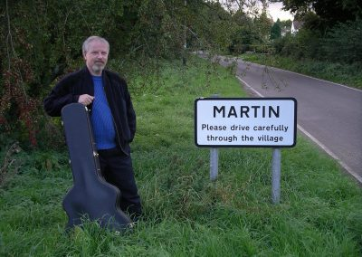 While playing a few gigs in England we came across this village sign. Not a comment on my driving, as I actually don't drive!